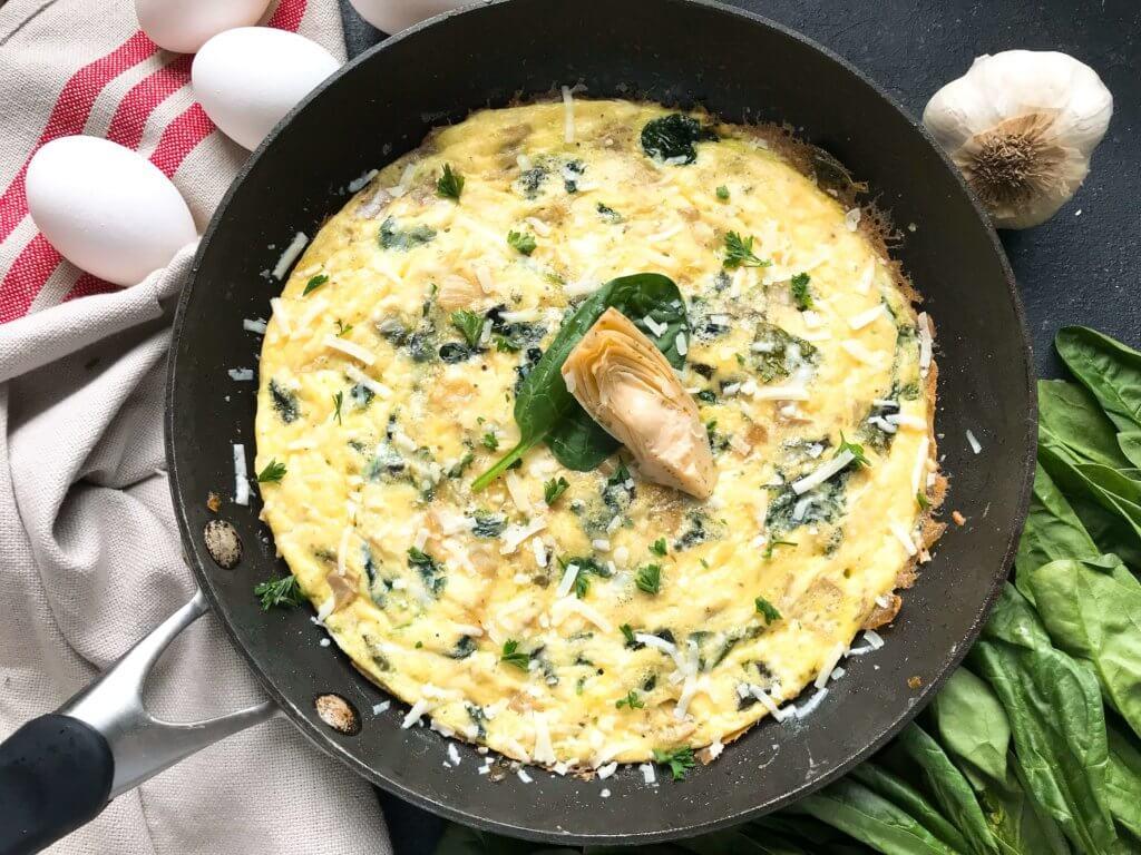 Easy Spinach Artichoke Frittata Recipe recommend