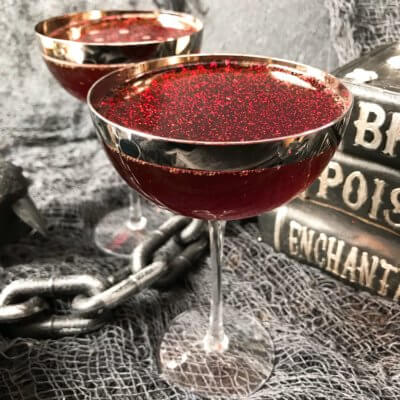Stormy Hallows Eve Rum Halloween Cocktail