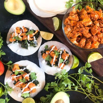 Smoked Paprika and Lime Cauliflower Tacos