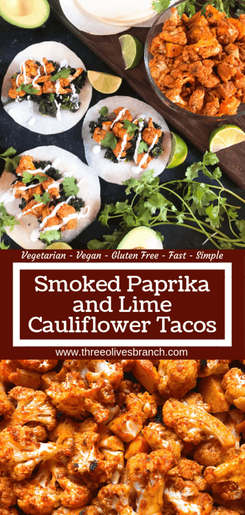 Simple and easy roasted cauliflower taco recipe seasoned with smoked paprika, lime, and Mazola corn oil. Vegetarian, vegan, low carb keto, and gluten free (gf). Fresh and simple Mexican recipe. Smoked Paprika and Lime Cauliflower Tacos #tacotuesday #mexicanrecipes #MakeItMazola #simpleswap #ad