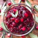 Rosemary Cabernet Wine Cranberry Sauce