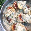 Creamy Skillet Spinach Artichoke Chicken