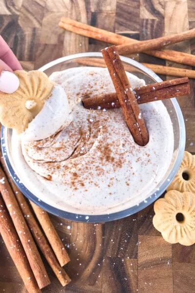 Eggnog Cream Cheese Dip