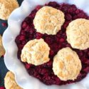 Holiday Cranberry Ginger Cobbler