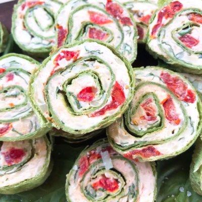 Caprese Pinwheel Roll Ups