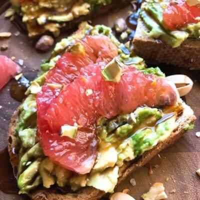 Balsamic Grapefruit Avocado Toast