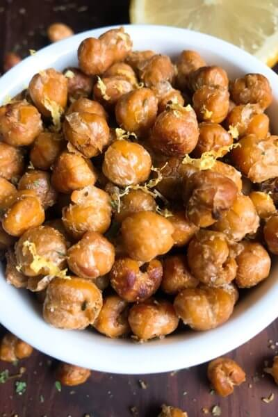 Oregano Lemon Roasted Chickpeas