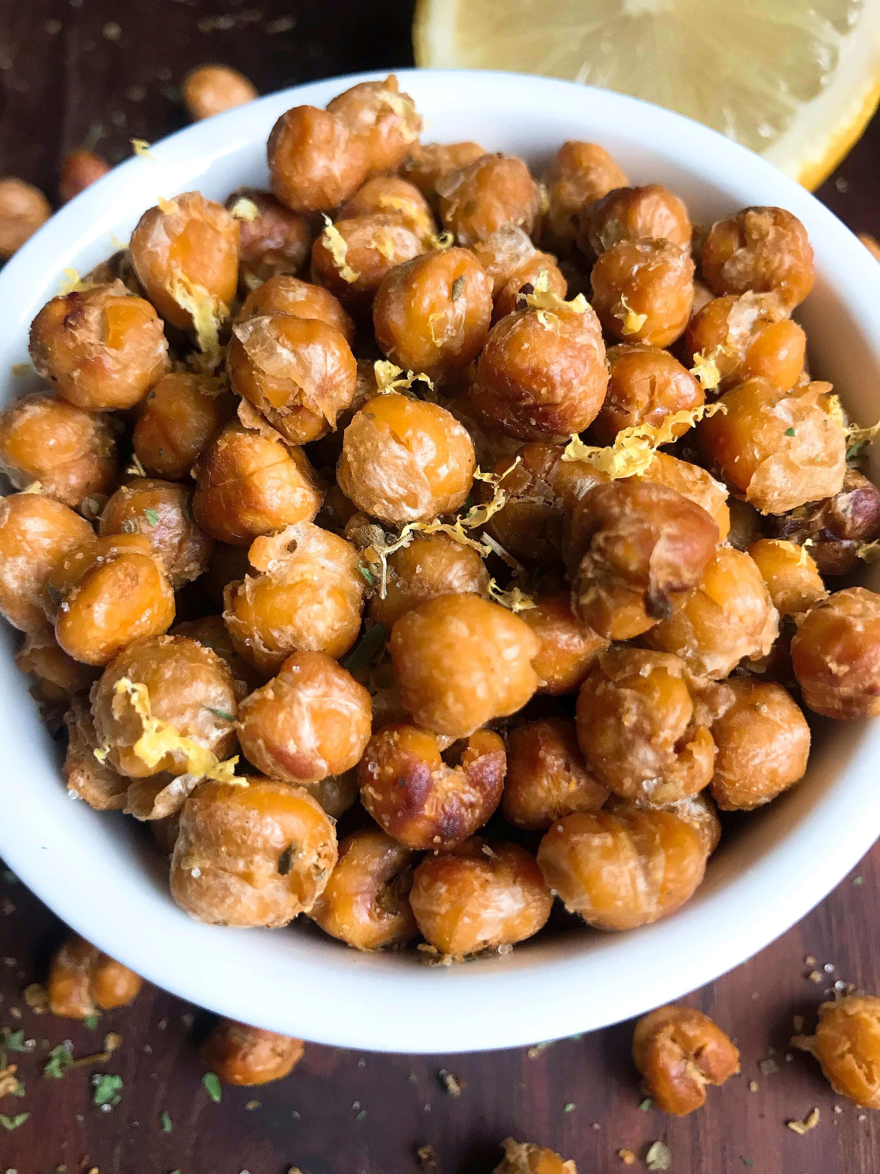 Oregano Lemon Roasted Chickpeas