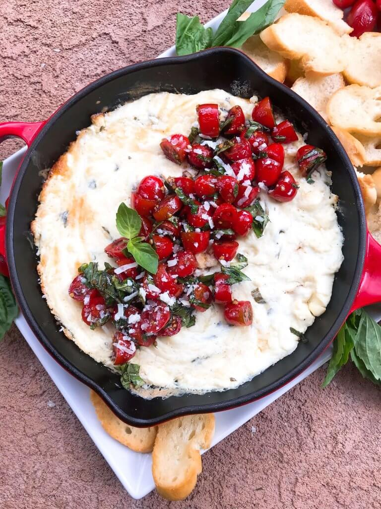 Caprese Cheese Dip