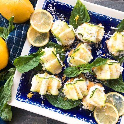Zucchini Lemon Ricotta Crostini