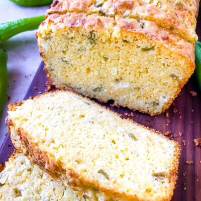 Hatch Green Chile Cheddar Cornbread
