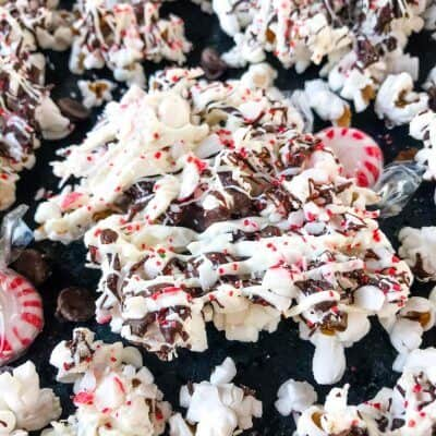 Chocolate Peppermint Bark Popcorn