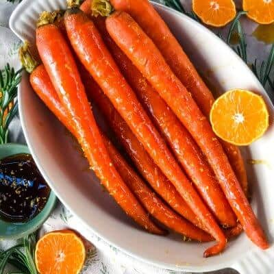 Orange Maple Glazed Carrots