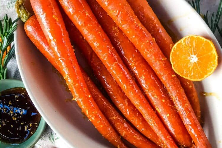 Orange Maple Glazed Carrots