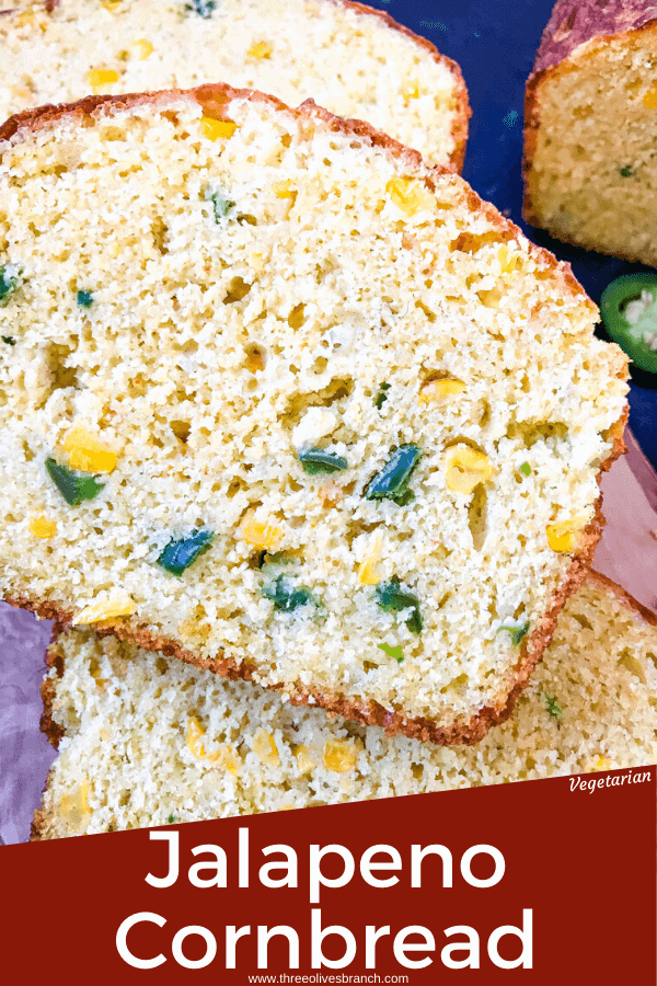 Jalapeno Cornbread is a quick bread recipe filled with peppers, corn, and cheese. Great side dish for BBQ or southern food. #jalapenopopper #cornbread